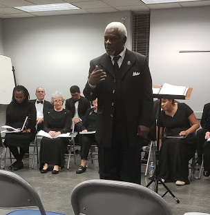 Maestro Dorceal Duckens singing 'Go Down Moses'.