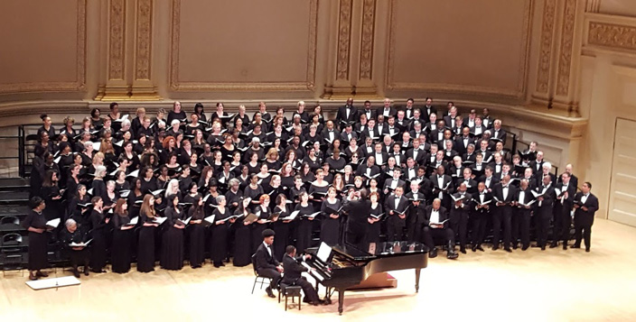 NYC Schiller Institute Community Chorus performing at Carnegie Hall.