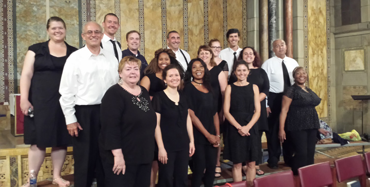 Members of the Boston Schiller Institute Community Chorus.