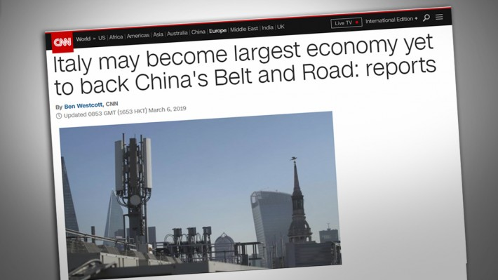 Webcast—Italy joins with China in battle for the New