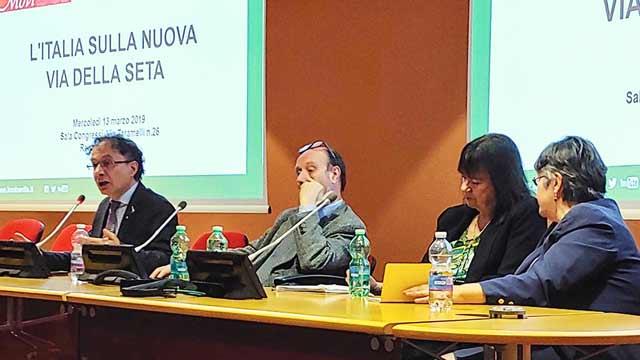 Geraci, Celani, Zepp-LaRouche and Movisol leader, Liliana Gorini.