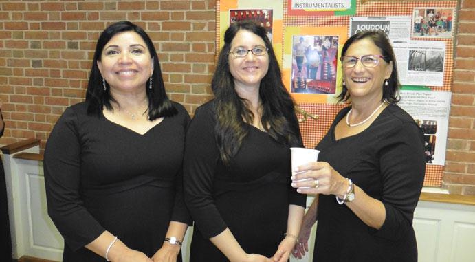 Our three soprano soloists, Gabriela Ramirez-Carr, Stephanie Nelson, and Susan Bowen.