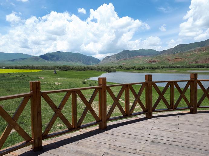 Xiahe county at Tibetan autonomous prefecture in Gannan (Gansu).