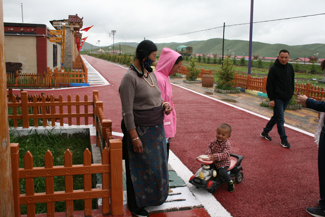 Model Tibetan village in Gaxiu (Gannan).