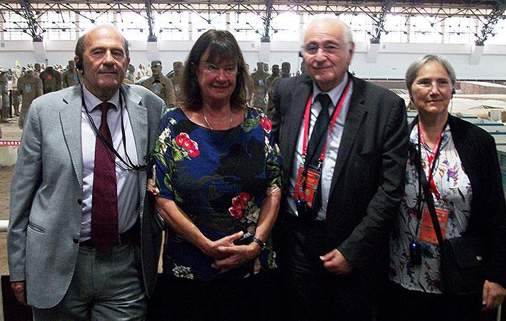 Italian economist Nino Galloni, Helga Zepp-LaRouche, Solidarité et progrès head Jacques Cheminade, and his wife, Odile Mojon.