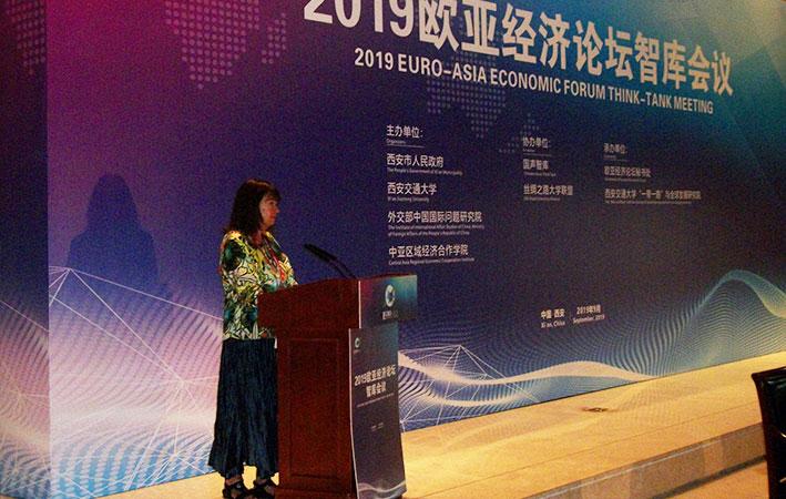 Schiller Institute founder, Helga Zepp-LaRouche addresses the 2019 Euro-Asia Economic Forum.
